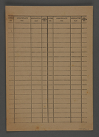 1995.89.602 back Identification document issued from the Kovno ghetto  Click to enlarge