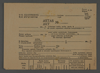 1995.89.621 back Registration form issued to work brigade members in the Kovno ghetto for identification of their relatives  Click to enlarge