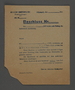 Permit issued by the Jewish Ghetto Police in the Kovno ghetto