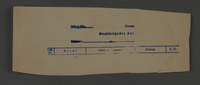 1995.89.623 front Permit issued by the administration of the Kovno ghetto  Click to enlarge