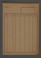 1995.89.625 front Invoice used by workshop in the Kovno ghetto  Click to enlarge
