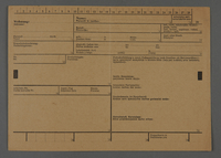 1995.89.626 front Permit issued in the Kovno ghetto  Click to enlarge