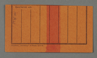 1995.89.63 back Work assignment slip for the railway issued in the Kovno ghetto  Click to enlarge