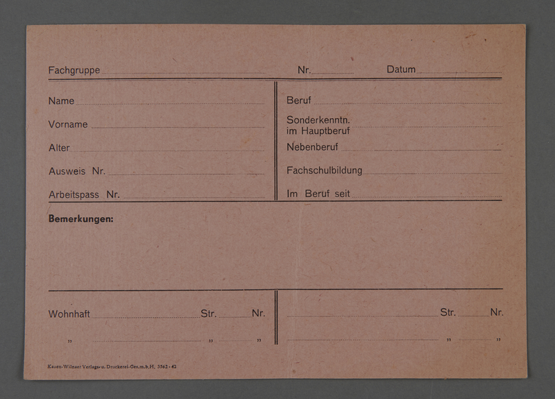 1995.89.633 front Identification card