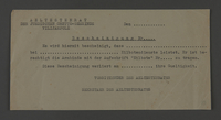 1995.89.635 front Blank permit from the Kovno ghetto  Click to enlarge