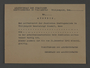 Blank work permit from the Kovno ghetto