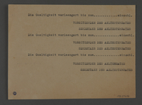 1995.89.636 back Blank work permit from the Kovno ghetto  Click to enlarge