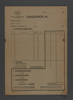 1995.89.637 front Invoice for Kovno ghetto workshops  Click to enlarge