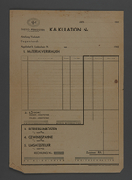 1995.89.638 front Invoice for Kovno ghetto workshops  Click to enlarge