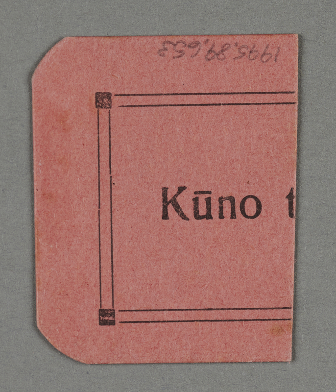 1995.89.653 back Work assignment slip from the Kovno ghetto