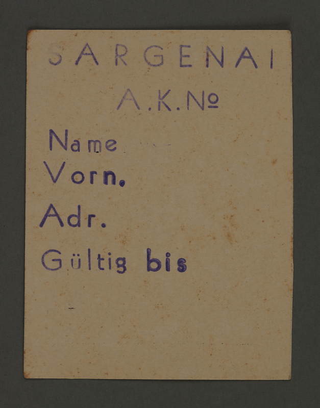1995.89.667 front Work assignment slip from the Kovno ghetto