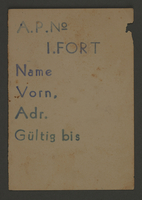 1995.89.67 front Work assignment slip for work in the first Fort in Kovno  Click to enlarge