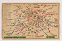 2014.459.2 front Paris metro map  Click to enlarge