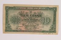 2014.459.7 back 10 franc note, Banque Nationale de Belgique  Click to enlarge