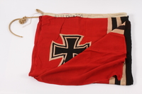 2015.210.1 front Nazi Germany Kriegsamarine banner acquired by an American soldier at Ohrdruf  Click to enlarge