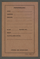 1995.89.68 front Work pass from the Kovno ghetto  Click to enlarge