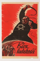 1998.194.2 front Antisemitic propaganda poster  Click to enlarge