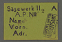 Work assignment slip for Woodcutting from the Kovno ghetto