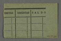 1995.89.684 back Work assignment slip from the Kovno ghetto  Click to enlarge