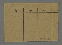 1995.89.701 back Work assignment slip from the Kovno ghetto  Click to enlarge