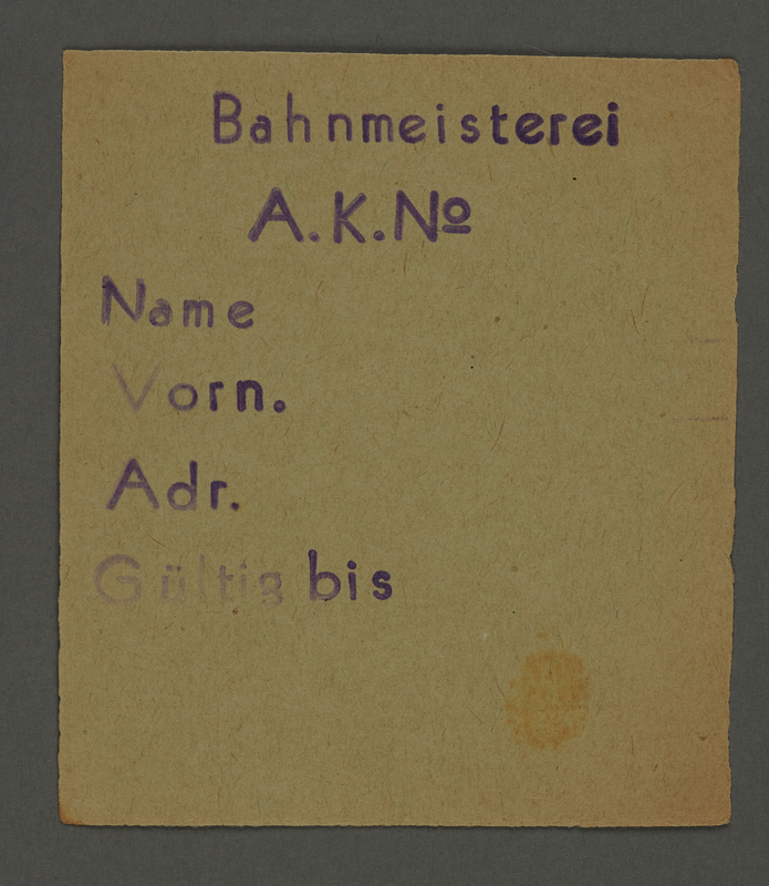 1995.89.703 front Work assignment slip from the Kovno ghetto