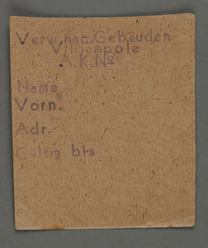 1995.89.705 front Work assignment slip from the Kovno ghetto