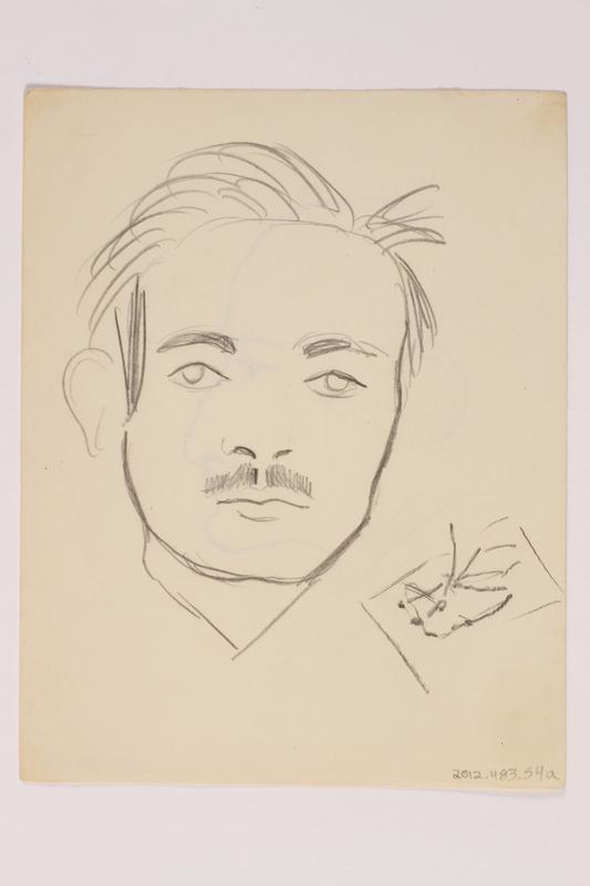 2012.483.54 a front Pencil sketch