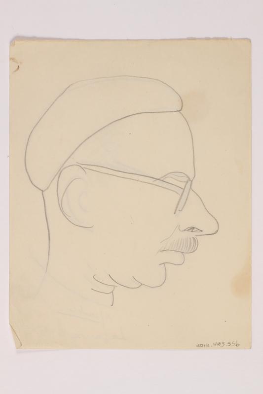 2012.483.55 b front Pencil sketch