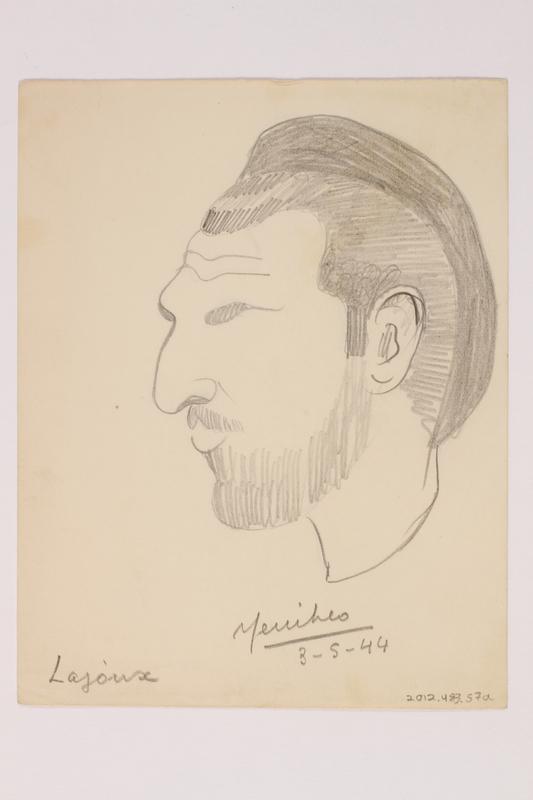 2012.483.57 a front Pencil sketch