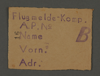 1995.89.712 front Work assignment slip from the Kovno ghetto  Click to enlarge