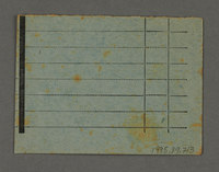 1995.89.713 back Work assignment slip from the Kovno ghetto  Click to enlarge