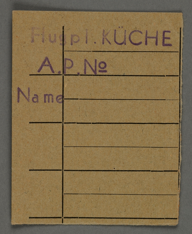 1995.89.726 front Work assignment slip from the Kovno ghetto
