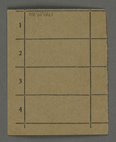 1995.89.726 back Work assignment slip from the Kovno ghetto  Click to enlarge