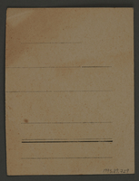 1995.89.729 back Work assignment slip from the Kovno ghetto  Click to enlarge