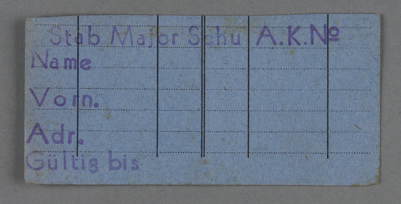 1995.89.743 front Work assignment slip from the Kovno ghetto