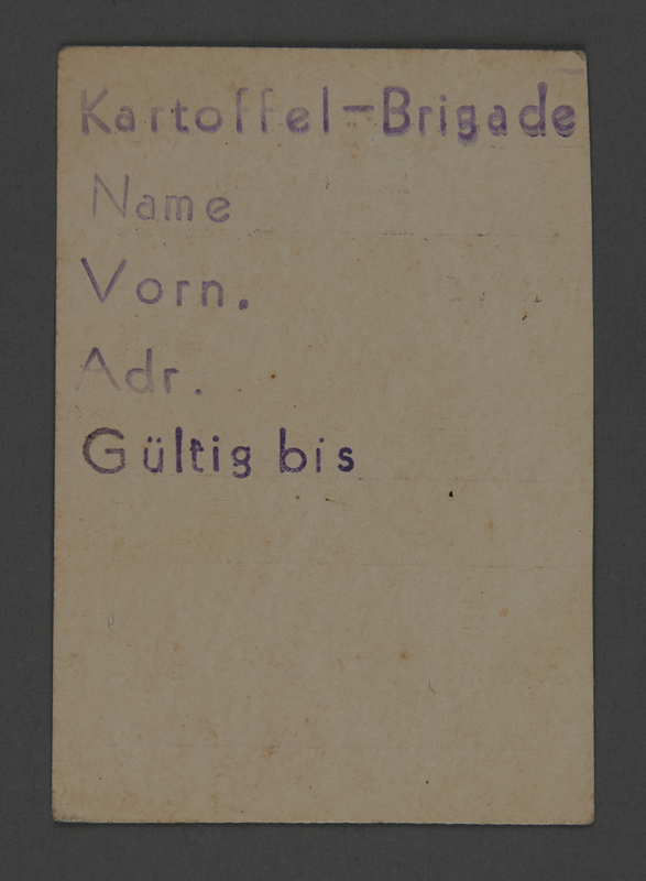 1995.89.745 front Work assignment slip from the Kovno ghetto