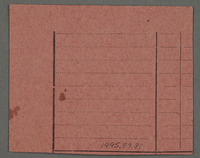 1995.89.81 back Work assignment slip from the Kovno ghetto  Click to enlarge