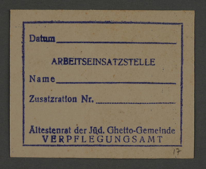 1995.89.821 front Work stamp impression from the Kovno ghetto
