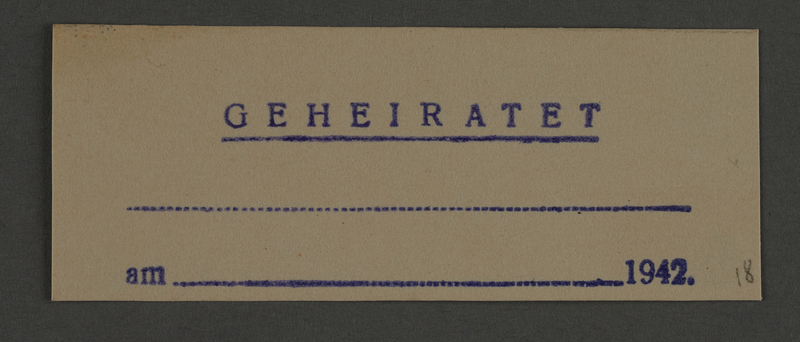 1995.89.830 front Ink stamp impression from an administrative department of the Kovno ghetto