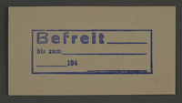 1995.89.842 front Ink stamp impression from an administrative department of the Kovno ghetto  Click to enlarge