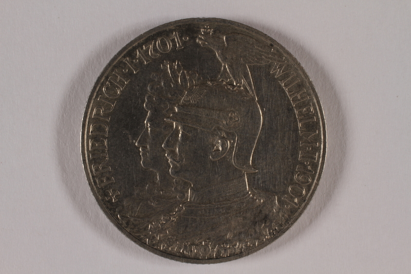 2014.472.2 front Kingdom of Prussia, 2 mark commemorative coin acquired by a US soldier