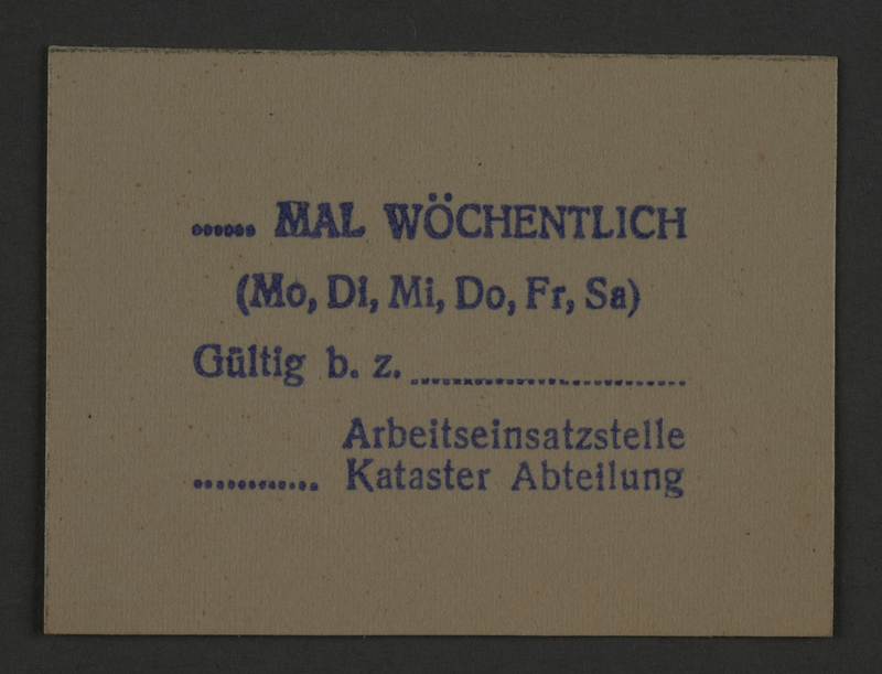 1995.89.855 front Ink stamp impression for the Medical Department of the Kovno ghetto