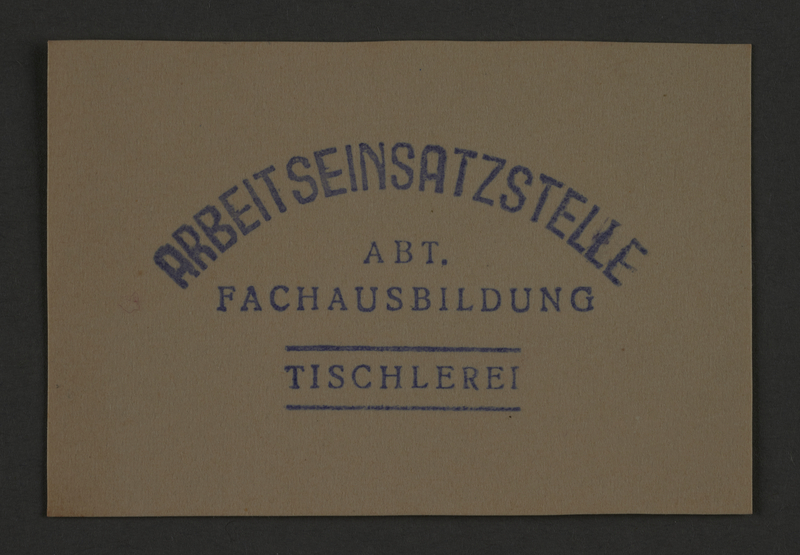 1995.89.859 front Ink stamp impression from an administrative department of the Kovno ghetto