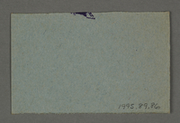 1995.89.86 back Work assignment slip from the Kovno ghetto  Click to enlarge
