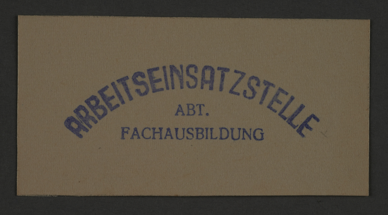 1995.89.860 front Ink stamp impression from an administrative department of the Kovno ghetto