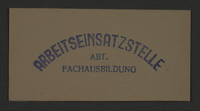 1995.89.860 front Ink stamp impression from an administrative department of the Kovno ghetto  Click to enlarge