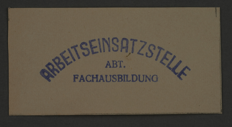 1995.89.861 front Ink stamp impression from an administrative department of the Kovno ghetto