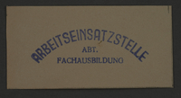 1995.89.861 front Ink stamp impression from an administrative department of the Kovno ghetto  Click to enlarge