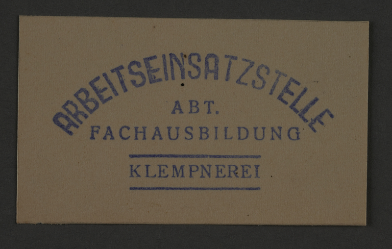 1995.89.862 front Ink stamp impression from an administrative department of the Kovno ghetto