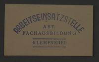 1995.89.862 front Ink stamp impression from an administrative department of the Kovno ghetto  Click to enlarge